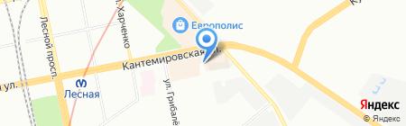 Шиномонтажная мастерская на Кантемировской на карте Санкт-Петербурга