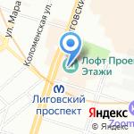 Красная цена на карте Санкт-Петербурга