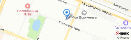 Шэр на карте Санкт-Петербурга
