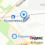 Политехническая-1 на карте Санкт-Петербурга