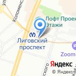 БОГАТЫРЬ на карте Санкт-Петербурга