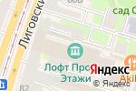 Схема проезда до компании EyeGlass в Санкт-Петербурге