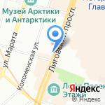 Северо-Западное бюро судебных экспертиз на карте Санкт-Петербурга