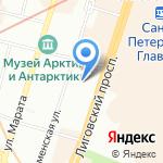 Линфас на карте Санкт-Петербурга