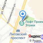 Центр бытовых и фотоуслуг на карте Санкт-Петербурга