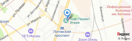 ТурВэй на карте Санкт-Петербурга