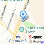 Независимый рок-клуб Тима Тайлера на карте Санкт-Петербурга