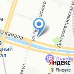 Фанат на карте Санкт-Петербурга