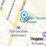 Табакрус на карте Санкт-Петербурга
