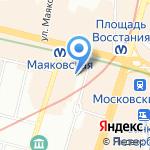 Магазин сувениров и подарков на карте Санкт-Петербурга