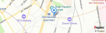 Центр Путешествий Просто на карте Санкт-Петербурга