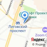 Ценошок на карте Санкт-Петербурга