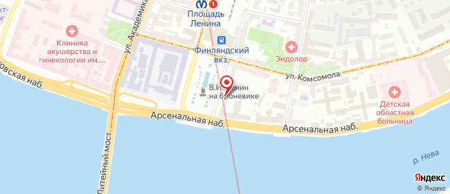 Карта расположения пункта доставки Санкт-Петербург Ленина в городе Санкт-Петербург