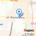 Желтая вешалка на карте Санкт-Петербурга