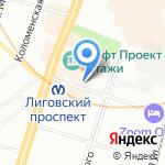 Nevsky Surf на карте Санкт-Петербурга