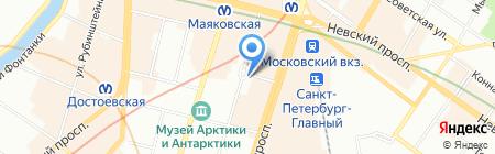 Евростретч-Санкт-Петербург на карте Санкт-Петербурга