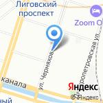 Царевич на карте Санкт-Петербурга