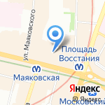 Эксклюзив Тревэл на карте Санкт-Петербурга