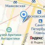 Северо-Западное региональное отделение Российского союза туриндустрии на карте Санкт-Петербурга