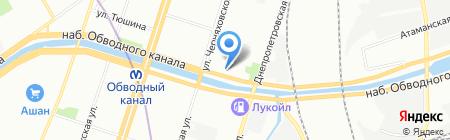 Бриз на карте Санкт-Петербурга