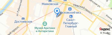 Лакомка на карте Санкт-Петербурга