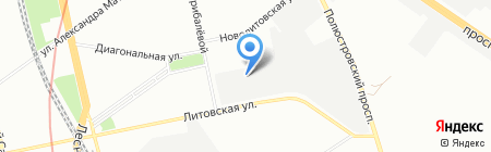 Линии снабжения на карте Санкт-Петербурга