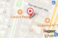 Схема проезда до компании КАФЕ ШАНХАЙ в Пушкине