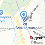 Кристи на карте Санкт-Петербурга