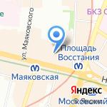 Караван на карте Санкт-Петербурга