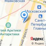 Атташе на карте Санкт-Петербурга