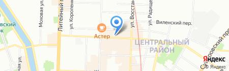 Семь красавиц на карте Санкт-Петербурга