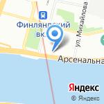 Администрация Калининского района на карте Санкт-Петербурга