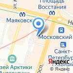 Пушкинская-10 на карте Санкт-Петербурга