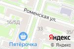Схема проезда до компании Тетрис в Санкт-Петербурге