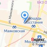 Копимания на карте Санкт-Петербурга