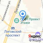 Buenos dias на карте Санкт-Петербурга