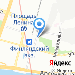 Суши Wok на карте Санкт-Петербурга
