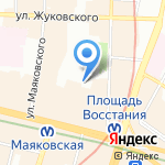 Средняя общеобразовательная школа №207 с углубленным изучением английского языка на карте Санкт-Петербурга