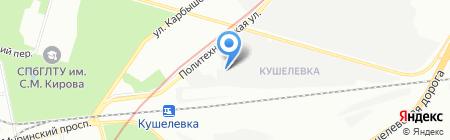 Антипарк на карте Санкт-Петербурга