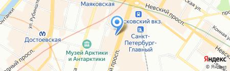 Оливетто на карте Санкт-Петербурга