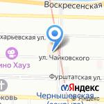 Неженка на карте Санкт-Петербурга