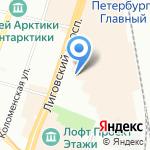 Ибис Санкт-Петербург Центр на карте Санкт-Петербурга