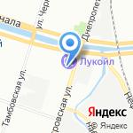 Киевская на карте Санкт-Петербурга