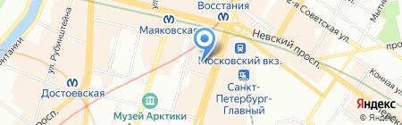 Прялка на карте Санкт-Петербурга