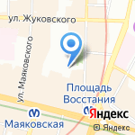 Пионер на карте Санкт-Петербурга
