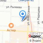 Слова бегом на карте Санкт-Петербурга