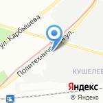 Кушелевский хлебозавод на карте Санкт-Петербурга