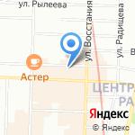 Восток-Запад на карте Санкт-Петербурга