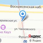Захарьевская 25 на карте Санкт-Петербурга