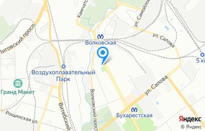 Местоположение на карте пункта техосмотра по адресу г Санкт-Петербург, ул Бухарестская, д 1 литер б, пом 1Н
